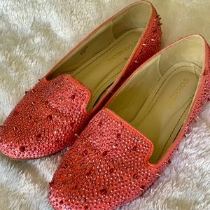 Pink Spike Loafers
